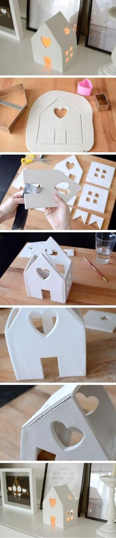 DIY: Beautiful House Candle Holder by Raelynn8