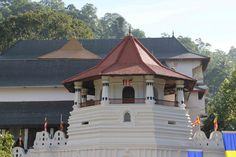 Octagonal pavilion at the Temple of the Tooth, Kandy, Sri Lanka.