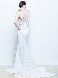 Enzoani wedding dress with tulle back