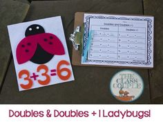 Working on doubles and doubles+1? This craftivity and accompanying recording sheet will help students by balancing the dots on a butterfly wing.