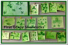 First Grade Shamrock Art Project (Suntans and Lesson Plans) Projects For Kids, Art Projects, Easter Art, Irish Art, Spring Art, Luck Of The Irish, Op Art, First Grade, St Patricks Day