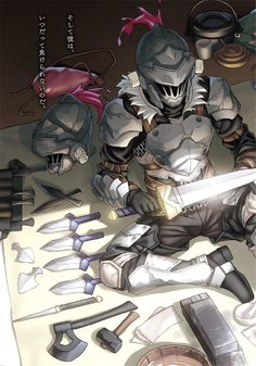 Goblin Slayer by Rwero on DeviantArt Manga Anime, Fanarts Anime, Anime Art, Goblin, Armor Concept, Concept Art, Fantasy Character Design, Character Art, Fantasy Characters