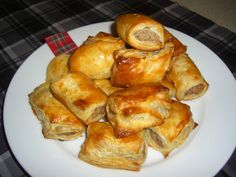 Scottish Sausage Rolls...Otherwise known as Pigs in a Blanket in other parts of the world...Scots Love them (1) From: Tartan Tastes In Texas (2) Follow On Pinterest > Angela Cook