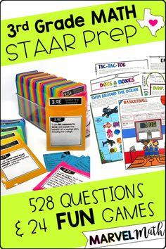 Staar Test, Math Test, Third Grade Math Games, Second Grade, 3rd Grade Classroom, Future Classroom, Math About Me, Math Stations, Test Prep