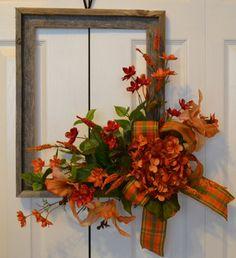 Hydrangea Wreath-Tiger Lily Wreath-Picture Frame Wreath-Outdoor Garden…