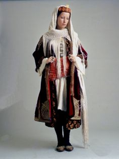Encore un foulard a franges -   Woman's bridal dress from Kastellorizo of the Dodecanese island group in the Ottoman town costume composition. - 1900's
