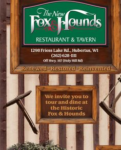 Welcome to The New Fox & Hounds Restaurant and Tavern - Hubertus, WI