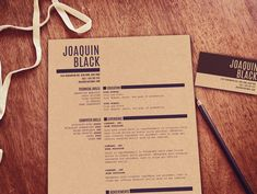 The Black Resume Customizable resume template by itsprintable
