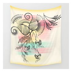 Decorative Floral Wall Tapestry (2,510 INR) ❤ liked on Polyvore featuring home, home decor, wall art, wall tapestries, flower illustration, water illustration, floral illustration, outdoor home decor and home wall decor