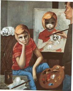 Big Eye Girl Lithograph Print  Margaret Keane 1963 by BellaMercato, $10.00