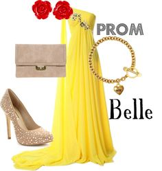 """""""Prom: Belle"""" by disneydiva305 ❤ liked on Polyvore"""