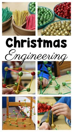 Easy and fun Christmas engineering in preschool #Preschool #PreschoolActivities #ChristmasActivitiesforKids #STEM #STEMActivities #Preschoolers #FunADay #Christmas #FineMotorSkills