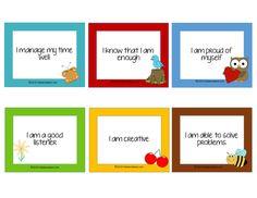 Free Affirmation Cards for Kids! - Kiddie Matters