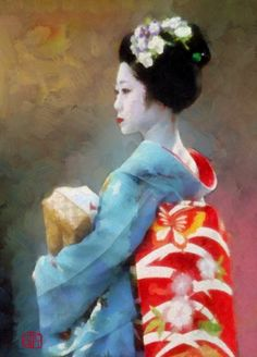 Maiko in Butterfly Obi - Cathleen Cawood