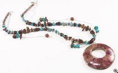 Jewelry Making Idea: Copper Mine Pendant Necklace (eebeads.com)  ~ FREE INSTRUCTIONS