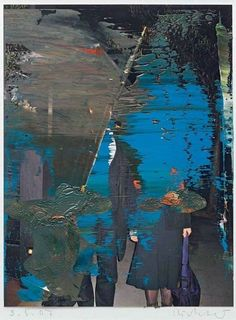 Gerhard Richter, Blue over photograph on ArtStack Landscape Artwork, Abstract Landscape, Gerhard Richter Painting, Cy Twombly, European Paintings, Contemporary Abstract Art, Oeuvre D'art, Art Photography, Street Art