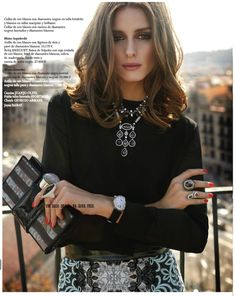 Love it all: hair, make up and the outfit. Very chic and classic.