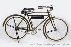 1918 Harley Davidson bicycle >>> The rider of this bike was seriously upright; look at those handlebars!