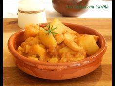 PAPAS CON CHOCO O PAPAS CON SEPIA Macaroni And Cheese, Carrots, Vegetables, Ethnic Recipes, Rio, Potatoes, Cooking Recipes, Ethnic Food, How To Make