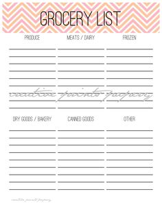 Organized Shopper Kit - Printable Grocery List, Need / Want List, Master Shopping List, and Online Username and Passwords Tracker. $8.00, via Etsy.