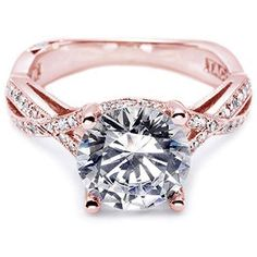 Rose Gold Engagement Rings | engagement ring we absolutely love the Classic Crescent engagement ...