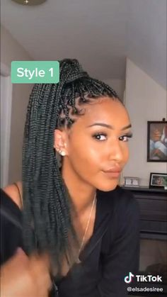 10 ways to style box braids