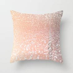 Diamonds are girls best friends II - Pink glitter texure Throw Pillow