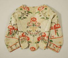 Bodice Date: ca. 1770 Culture: Spanish Medium: silk