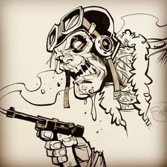 ✒️Added a couple original ink drawings to the web-store (link in profile) #monsters#zombies#beerstoyouoldamigo