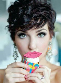 Love the curly pixie cut