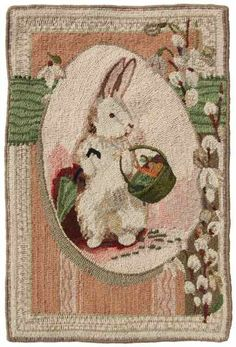 Tricia's Hooked Easter Bunny Postcard Rug