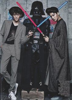 Are they even real? *.* #sehun #ohsehun #kai #jongin -- pinku & bambi
