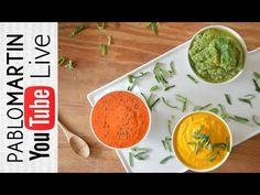 MAYONESAS VEGANAS Y CONSCIENTES - - By Pablo Martin Chef - YouTube Snacks Saludables, No Salt Recipes, Sin Gluten, Guacamole, Hummus, Pesto, Salmon, Healthy Recipes, Healthy Foods