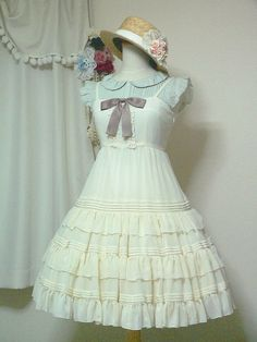 simple coord dress: Victorian maiden blouse: off