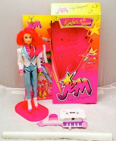JEM and The Holograms Kimber Doll Boxed & Complete, Vintage 1980's