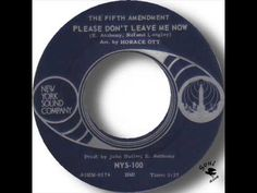 The Fifth Amendment Please Don't Leave Me Now - YouTube