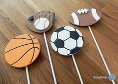 All Star Sports Shape Cake Toppers or Party by BabyBinkz on Etsy