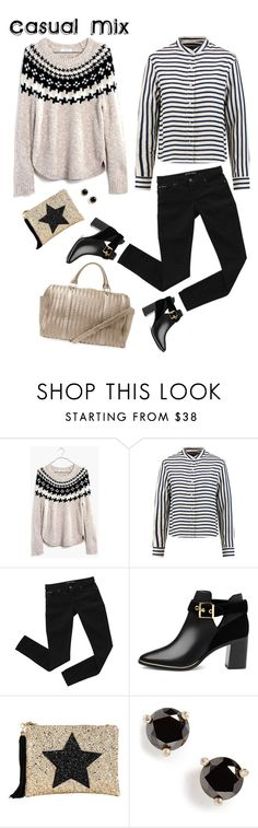 """Casual Mix"" by musicfriend1 ❤ liked on Polyvore featuring Madewell, rag & bone, Bardot, Ted Baker, Lisa Bea, Kate Spade, Deux Lux, stripes, star and cutoutboots"