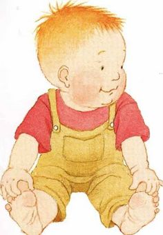 Helen Oxenbury is such a great illustrator. Her babies are so sweet. This is from Ten Little Fingers and Ten Little Toes
