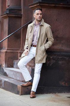 b1642fdc79 Lighten Up  White Denim for Winter - He Spoke Style. Robert s · Cómo  Combinar Un Pantalón Blanco