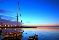 Trieste - le rive al tramonto...