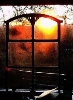 Guseisernes Fenster vor Sonnenuntergang - patchwork impressions