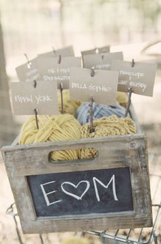 love the yarn in a old wooden crate