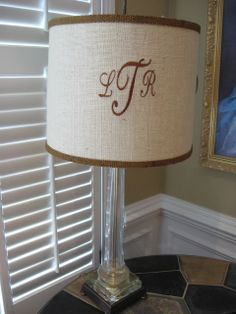 Monograms and Lampshades - Southern Hospitality | Southern Hospitality