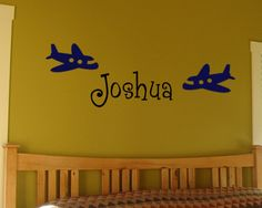 Airplane wall decal from etsy