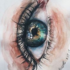 Pinterest: ashliwankhanobi ❀ Watercolor Eyes, Watercolor Paintings, Watercolors, My Eyes, Eye Drawings, Amazing Drawings, Amazing Art, Eye Painting, Paintings Of Eyes
