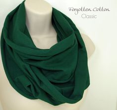 Shoply.com -Jersey Infinity Scarf Emerald Green. Only $20.00