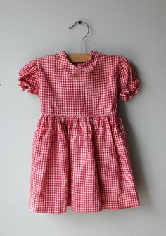 Sweetness! Vintage Red Gingham Picnic Day Dress. $28.00, via Etsy.