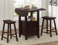 great space saver table with storage and drop leaf sides