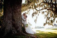 Sunset Kiss on St. Simons Island #wedding photography #stsimons #brideandgroom #southernweddings